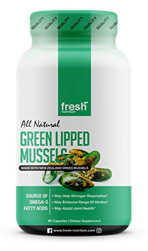 Green Lipped Mussel Capsules - Strongest DNA Verified from New Zealand - Perna Canaliculus Omega Supplement for Hip and Joint - Non GMO