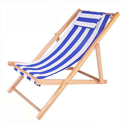 Q Store Deckchairs Chaise Longue à Bascule pour Adulte - Fauteuil à Bascule - Fauteuil Pliable - Chaise en Bambou - Chaise décontractée - Bois Massif