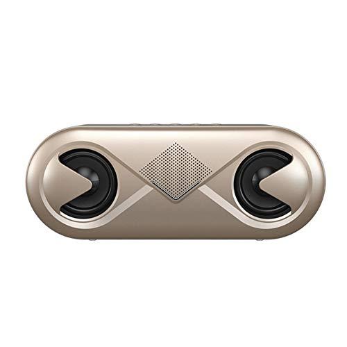 XALO Altavoz Bluetooth, Altavoz Estéreo Inalámbricos Inteligentes Calling Subwoofer del Reproductor De Música Portátil De Sonido De Alta Fidelidad De Luz LED De Manos Libres, Fiesta En Casa,Oro