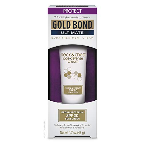 Gold Bond Neck and Chest Age Defense Cream 1.7 oz, With Broad Spectrum SPF 20 Sunscreen