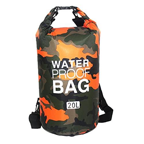 Tuimiyisou Flotante Dry Bag Mochila Ligera Playa Bolsa De Playa Seca Kayaking Natación 20 litros Naranja
