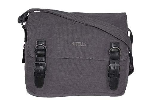 Ritelle 1078 - Bolso bandolera de tela con relleno de piel (3 colores disponibles)