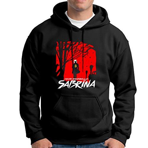 Fanta Universe Sabrina - Felpa con Cappuccio Uomo - 50% Cotone (XS, Nero)