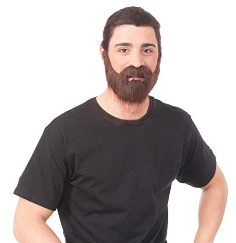 Forum Novelties 73600 Full Brown Beard with Moustache, One Size, Pack of 1
