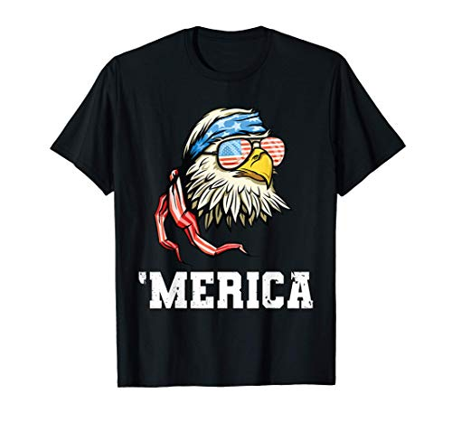 4th Of July Merica USA Flag Bald Eagle Patriotic Veteran T-Shirt