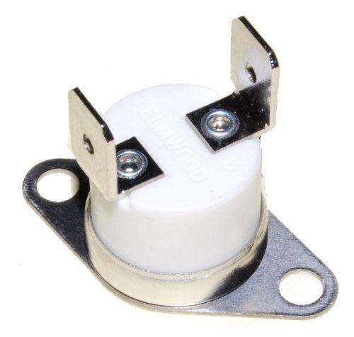 Thermostaat Thermische overbelastingsbeschermer (TOC) Universal 220c graden, bi-metallic, N/c, open at 220 11 deg c, 10 A, 6,3 mm tab-aansluitingen, gebruikt op Rangemaster 90 & 110 koker