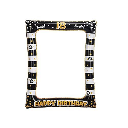Cornice per Selfie, Cornice per Foto di Compleanno, Puntelli per Photo Booth, 18 Forniture per Feste di Compleanno, Cornice per Foto del 18 Compleanno Cornice per Foto di Compleanno