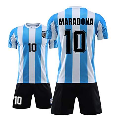 Für MVP Maradona # 10 Fußballuniformen, für 1986 Argentinische Fußball-Nationalmannschaft T-Shirts, Fans Gedenk-Trikots, Tribut an Fußballhelden XXL