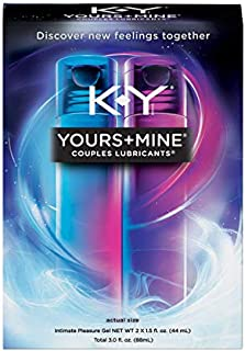 K-Y Yours & Mine Couples Lubricant - Eases Natural Discomfort from Dryness While Supplementing Natural Lubrication 3 oz (2 Pack)