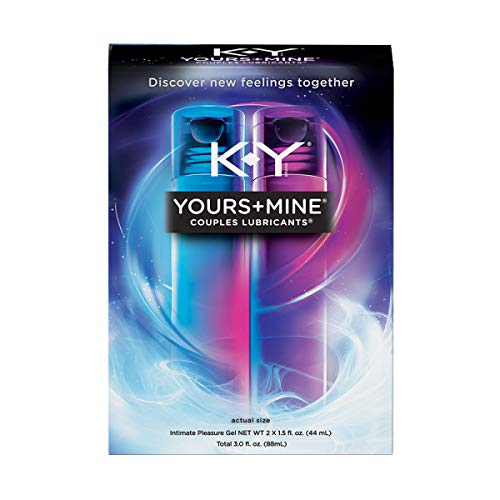 Lubricant for Him and Her, K-Y Yours & Mine Couples Lubricant, 3 oz, Couples Personal Lubricant and Intimate Gel. Sex Lube for Women, Men & Couples. (Pack of 2)