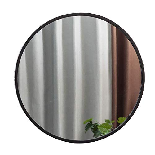 LZLYER Espejo Escritorio Espejo Tocador Baño Colgante de Pared Decoración Belleza S, Arte de Hierro Nórdico de Pared, Metal Negro Enmarcado, 丨 丨, Decoración,70Cm