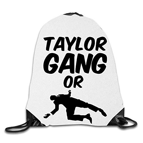 Creative Design Taylor Gang Or Die TGOD Shirts Hoodies and Crewnecks Drawstring Backpack Sport Bag for Men and Women