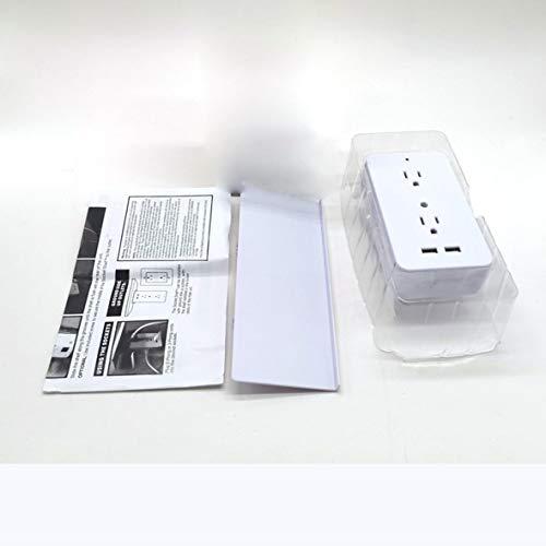 Cosye Estante de Almacenamiento de Enchufe de Interruptor 6 tomacorrientes y 2 Puertos de Carga USB Estante Incorporado Toma de Corriente Inteligente multifunción para el hogar