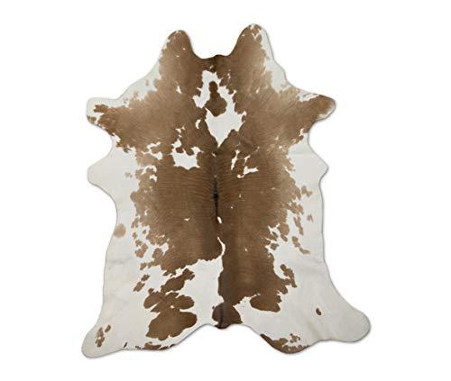Zerimar Alfombra Piel de Vaca Becerro Natural   Medidas: 90x70 cm   Alfombra Salón   Alfombra Decoracion   Alfombra Dormitorio