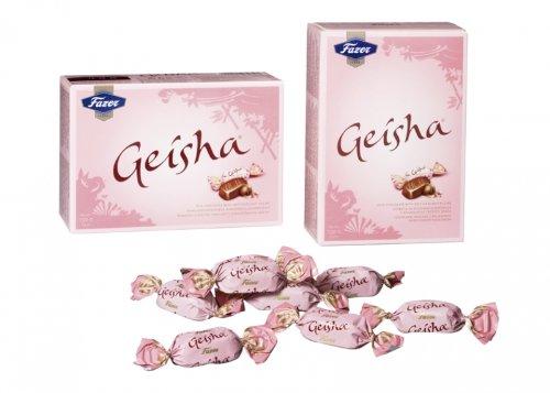 Geisha Milch Schokoladen mit weichem Haselnuss Füllung 150g by Karl Fazer [10er packung]