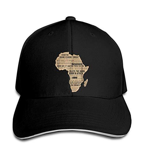 Baseball Cap Herren African Rain Toto Snapback Hut erreichte seinen Höhepunkt Atmungsaktive Run Cap Sport Sonnenhut Polo Style Schweißband Quick Dry Lightweight Soft Geburtstagsgeschenk