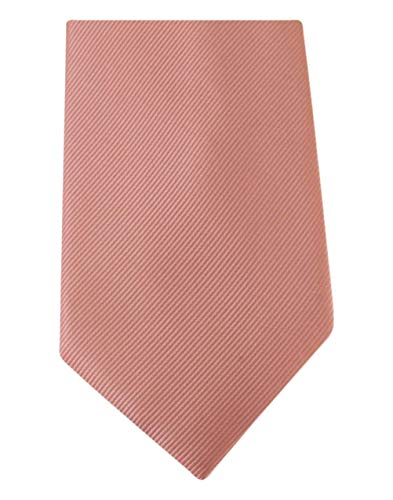 David Van Hagen Rose Diagonal côtelé cravate de
