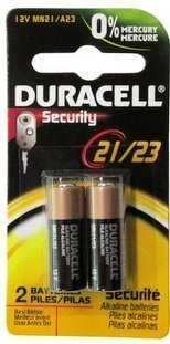 Duracell 12 Volt Alkaline Alarm Remote Battery MN21 / A23 2 Pack by Duracell
