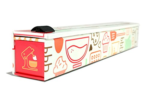 ChicWrap Baker's Tools Parchment Paper Dispenser with 15'x 41 Sq. Ft Roll of Culinary Parchment Paper