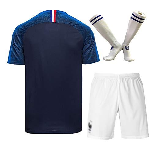 Fußballtraining, Sportbekleidung, Pogba Giroud Umtiti, Fußball-Westenset für die Fußballweltmeisterschaft Frankreich, Trainingsanzug für Erwachsene/Kinder, Beste Wahl für Fans-Blue-M