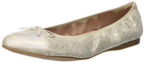 Tamaris Damen 1-1-22129-24 Geschlossene Ballerinas, Beige (Shell Struct. 477), 40 EU