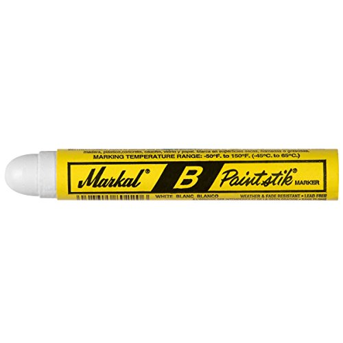 Markal 80220 B Paintstik Solid Paint Ambient Surface Marker, White