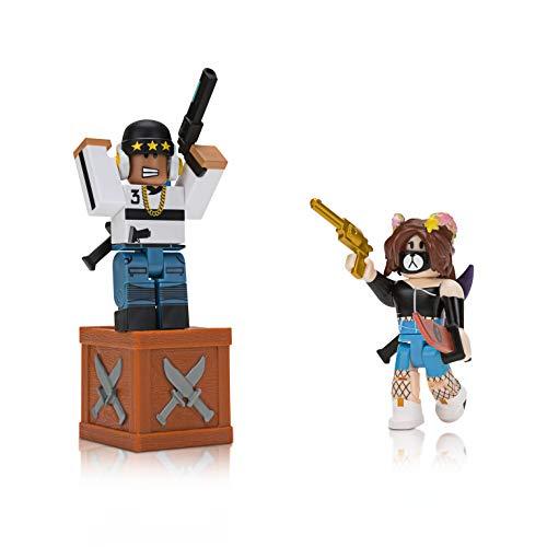 Roblox ROB0209 2er Pack, Spielfiguren Set mit 2 Actionfiguren, bewegliche Action Sammelfiguren mit Zubehör und Ausrüstung, mit Spielcode, Spielset für Kinder ab 6 Jahren, Figuren Murder Mystery 2
