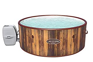 Lay-Z-Spa Helsinki Hot Tub, 180 AirJet Wood Effect Inflatable Spa with Freeze Shield Year Round Technology and Rapid Heating, 5-7 Person (B08DJ9J4DR)   Amazon price tracker / tracking, Amazon price history charts, Amazon price watches, Amazon price drop alerts