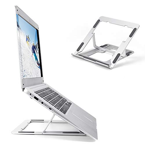 ABEDOE Laptop Stand Adjustable for Desk, Portable Ergonomic Laptop Riser Stand for 17 Inch Laptop, Windows & Mac devices such as Dell, Toshiba, HP, Samsung, MacBook, Lenovo and More.