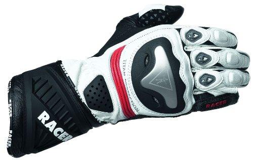 Racer Sicuro Handschuh, Rot-Weiß, Größe S