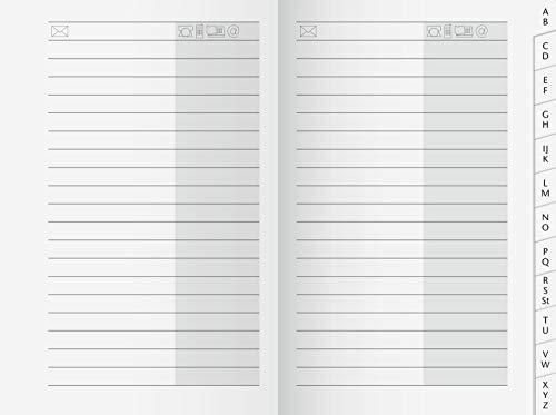 BRUNNEN 1070023 Adress-Registerheft (für Taschenkalender, 32 Seiten, 70 x 110 mm)