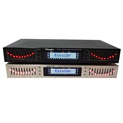 Ecualizador Estéreo EQ665, Ecualizador de Alta Fidelidad de 220V para el Hogar, Ecualizador de Doble 10 Band Estéreo, Alto y Bajo, con Bluetooth Incorporado (eq665, Negro)