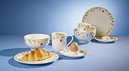 Preisvergleich für Villeroy & Boch Spring Awakening Frühstücksservice für 2, 8-teilig, Premium Porzellan, Weiß/Bunt