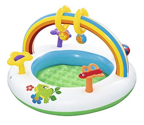 MMYYIP Cartoon Digital Aufblasbare Baby Schwimmbad Planschbecken Ozean Bällebad Sonnenschirm Sandkasten Für Kinder, Im Freien Rasen Babyplanschbecken,D