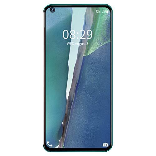 Smartphone Desbloqueado 6.82En Teléfono Celular, Teléfono Móvil Android de Doble Tarjeta Y Doble Modo de Espera Reconocimiento Facial de Desbloqueo de Huellas Dactilares(Verde)