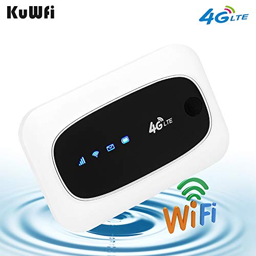 KuWFi 4G LTE Mobile WiFi Hotspot Travel Router Partner Wireless SIM...
