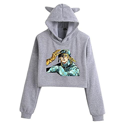 MLX-BUMU JoJo's Bizarre Adventure - Sudadera con capucha para mujer