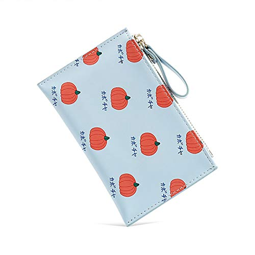Monedero Mini Wallet Señoras Pequeñas Cartera Tarjeta Caja Mini Frutas Frutas Patrón Monedero Monedero CAMBIO CAMBIAR CAMBIO CAMBIO BOLSA COMPACT Bolso de Monedas ( Color : Blue , Size : 14x1.5x9cm )