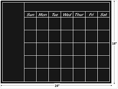 30 tall x 27 wide Rectangle Chalkboard Decal
