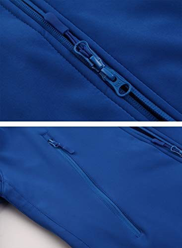 MAGCOMSEN Combat Jacket Mens Military Clothing Winter Outdoor Coats Mens Waterproof Jackets Warm Fishing Jackets for Men Softshell Jackets for Skiing Snowboarding Mens Hoodies Blue