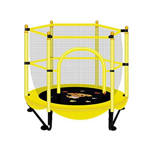 XUDREZ Mini trampolín redondo Indor al aire libre con red de seguridad Muelles equipo de gimnasia para ejercicio en el hogar, fitness, entrenamiento, patio, trampolín con aro de baloncesto