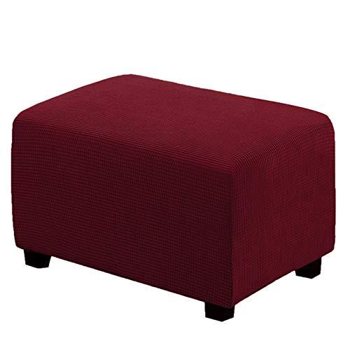 XJHKG Rectángulo Funda De Reposapiés, Protector De Taburete De Punto Elástico E Impermeable Lavable A Máquina para El Salón (Red,Large)