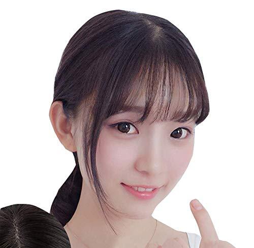 TOPJIN Extensions de cheveux humains raides 3D pour femme 20,3 cm Couleur naturelle