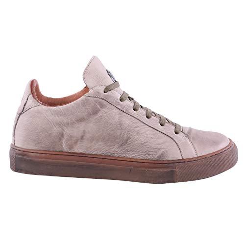 Matchless Damen Leder Sneaker Chucks Schuhe Lewis Low Antique White Größe 37