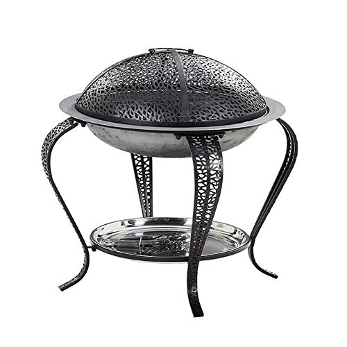 LBS Erhältlich auf dem Grill Grill Lagerfeuer Tisch Bonfire Stehen rund Zwei Größen (Color : with Cover, Size : 68 * 68 * 45cm)