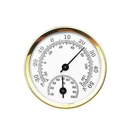 TOMMY LAMBERT Thermometer Ø 58 mm Wandmontage Luftfeuchtigkeit Hygrometer 2-in-1 Multifunktions-Innen-Haushalt Sauna Raumtemperatur