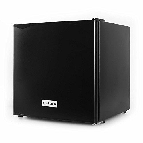 KLARSTEIN Garfield Black Edition - Congelador Mini, 4 Estrellas, 35 litros, 2 Pisos, 65 W, Temperatura Ajustable Entre -18 y -24 °C, Clase de eficiencia energética de A+, Cubitera, Espátula, Negro