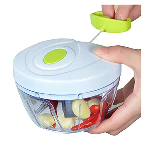 XUXUN Manual Chopper Procesador de Alimentos Triturador de silvicultura Ensalada Maker Ajo Press Cebolla Slicer Vegetal Fruit Cutter Cocina Gadgets Herramientas (Color : Chocolate)