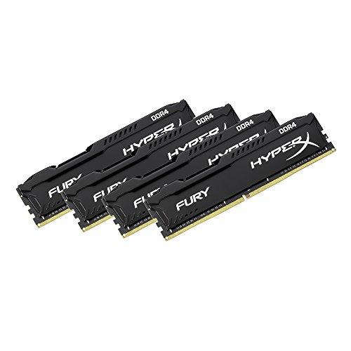 HyperX Fury - Memoria RAM de 64 GB (DDR4, Kit 4 x 16 GB, 2400 MHz ...