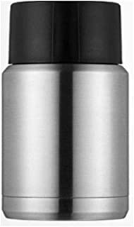 WCHCJ Insulation Lunch Box 500ml Black Stainless Steel Beaker, Carry It Outdoors, Heat Preservation Health Cup